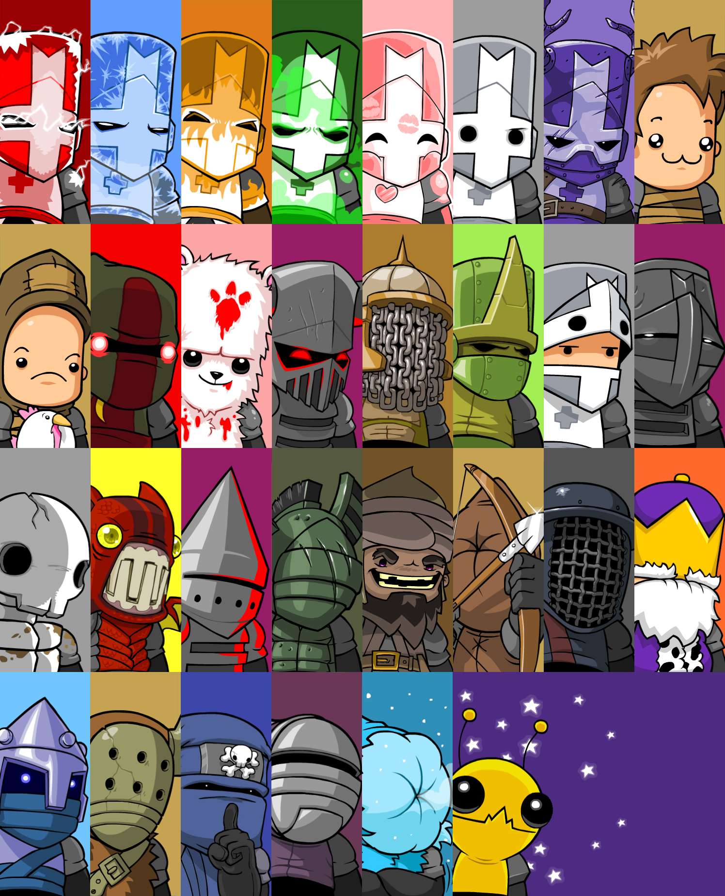 Castle Crashers Portraits