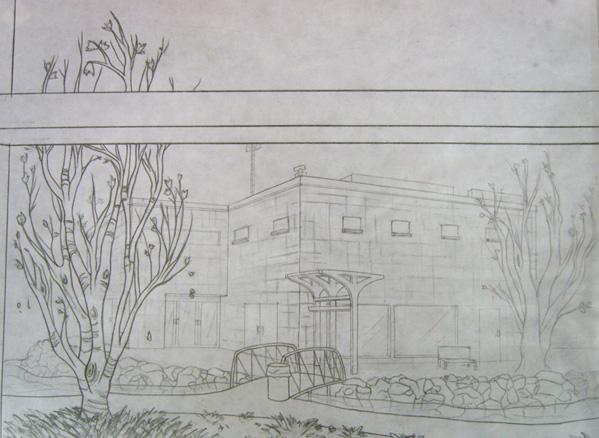 Scene line drawing