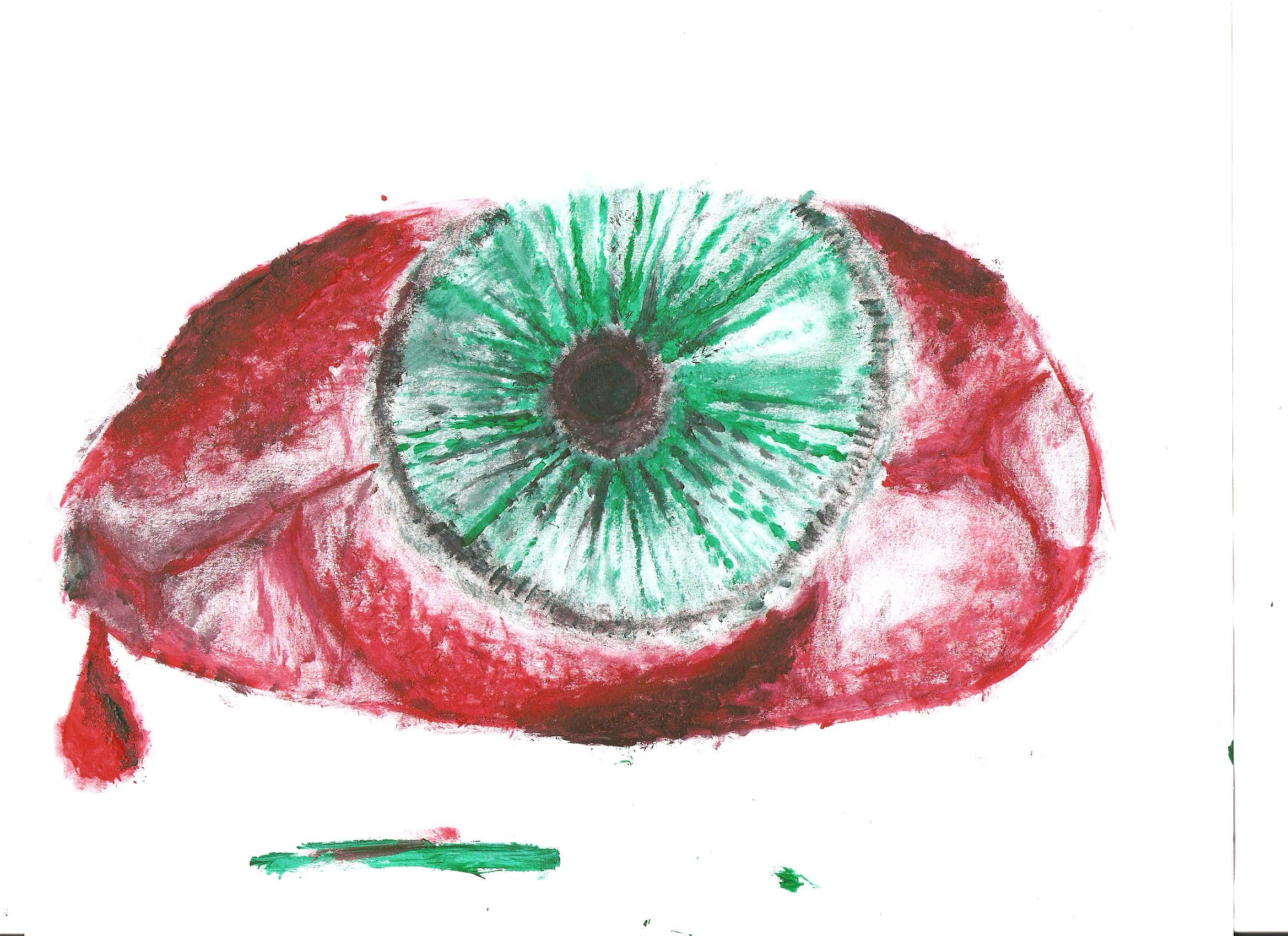 Red and Green Eye