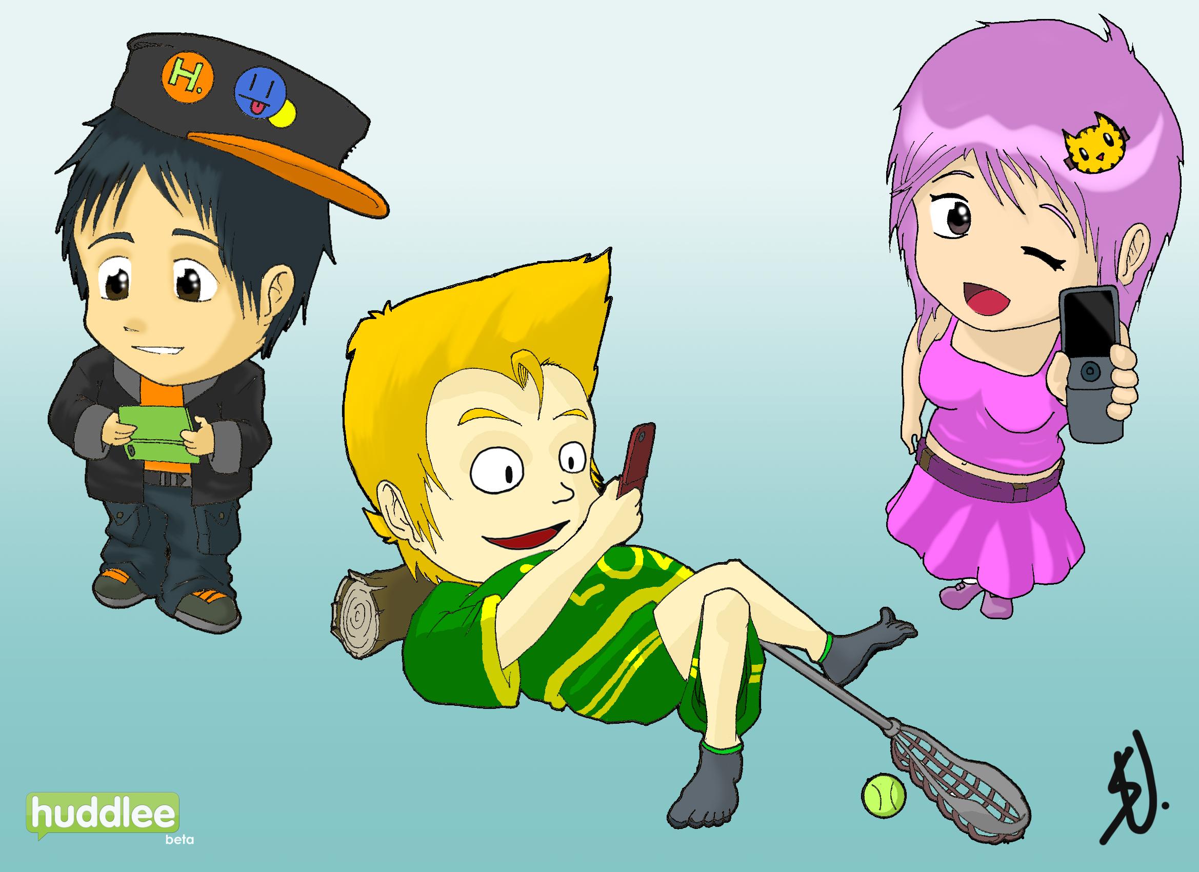 Huddlee Characters