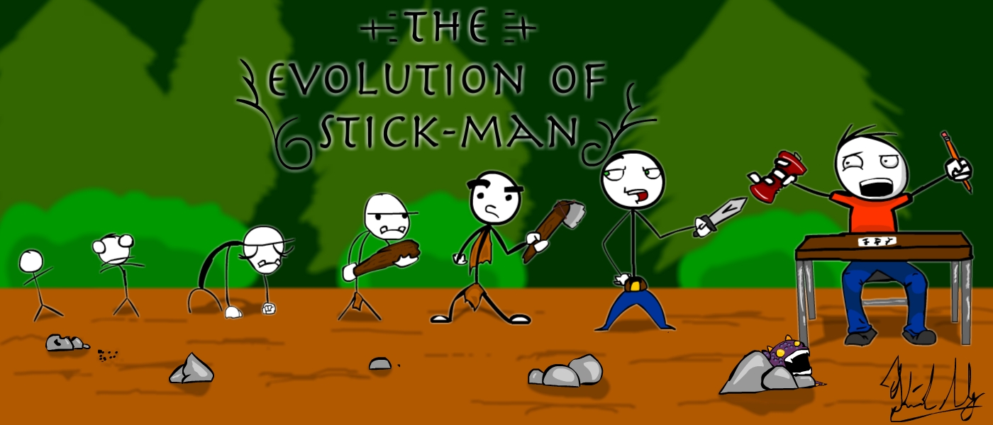 The Evolution of a Stick-Man