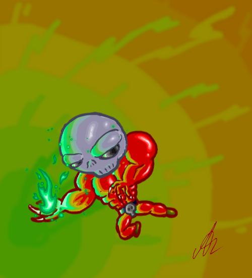 Bone head: Green fire