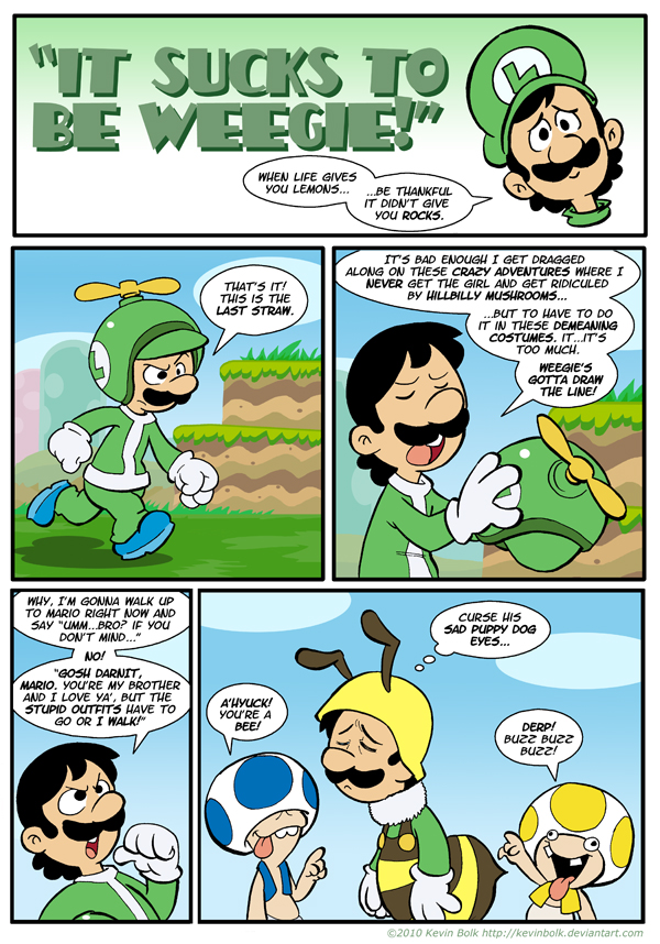 Sucks to be Luigi: Costumes