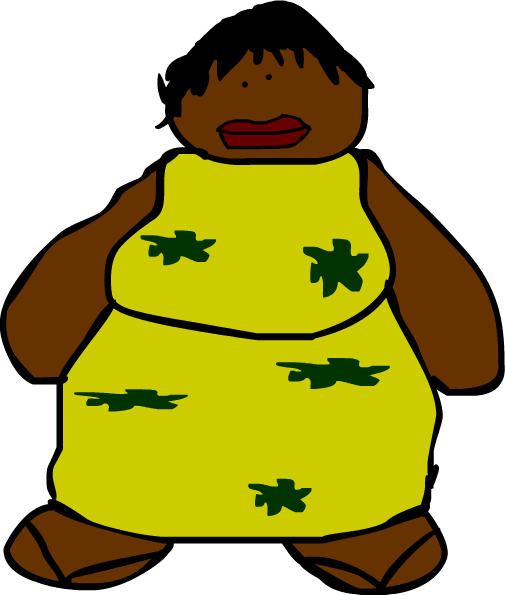 Fat african-american woman