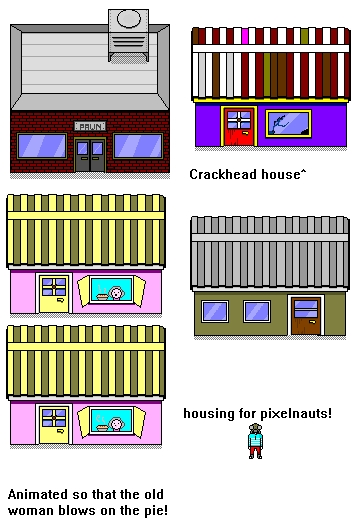 Pixelnaut's house sprites