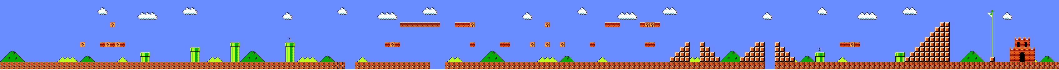 Mario World 1-1 (8-bit)