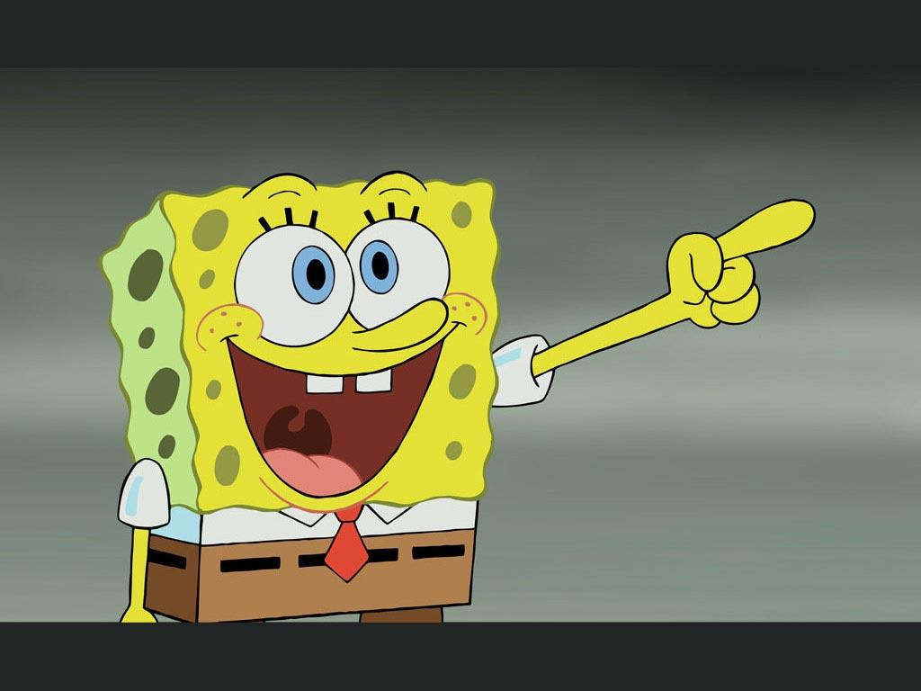 spongebob pointing