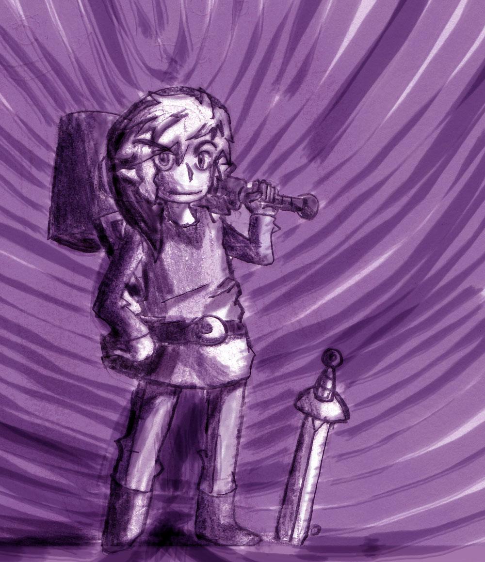 legend of Zelda:Purple Link