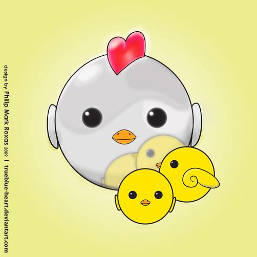 Metallic Chicken & her Chicks