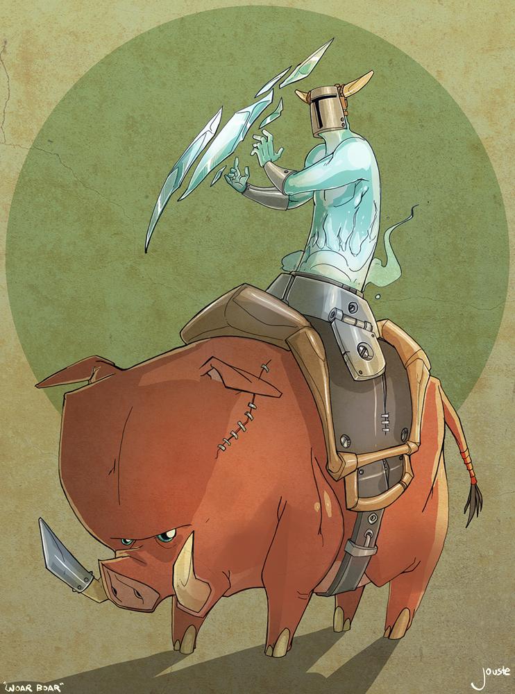 woar boar, the saddle-caster!