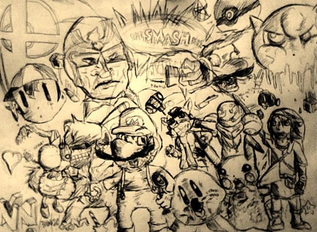 Super Smash Bros Pen.