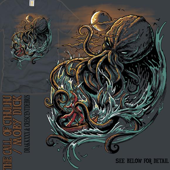 Cthulhu vs. Ahab T-Shirt