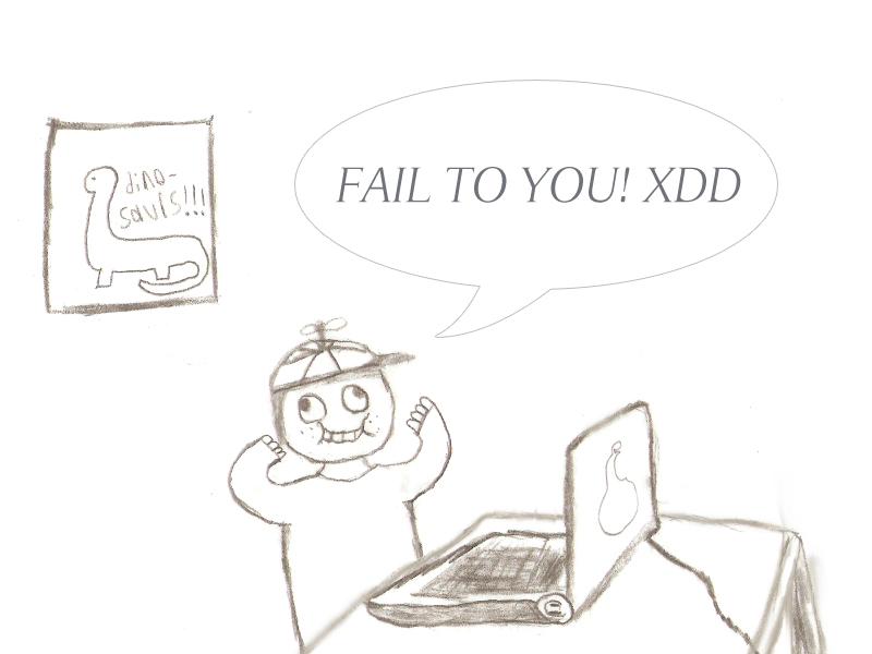 stupid kid on computer