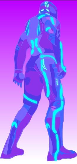 Purple Technology Man