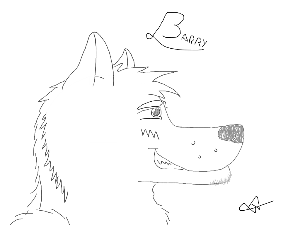 His name's Barry, my new char.