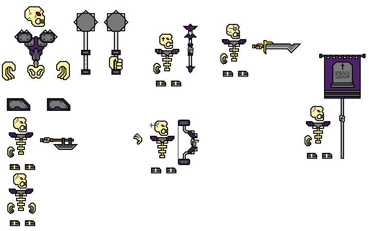 Undead Skeleton Sprites