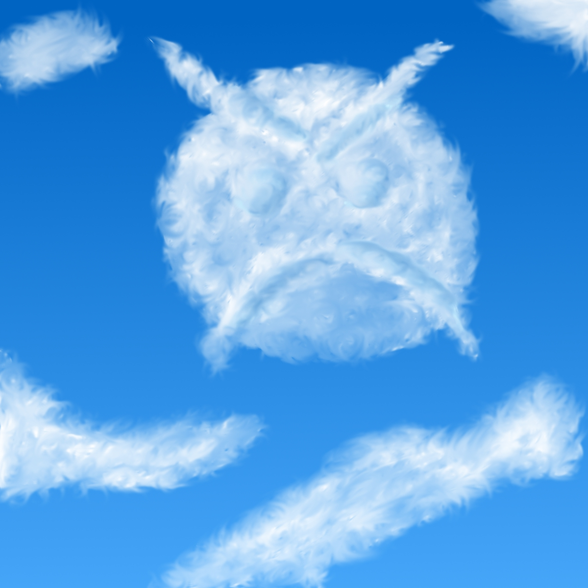 Angry Faic in the sky!