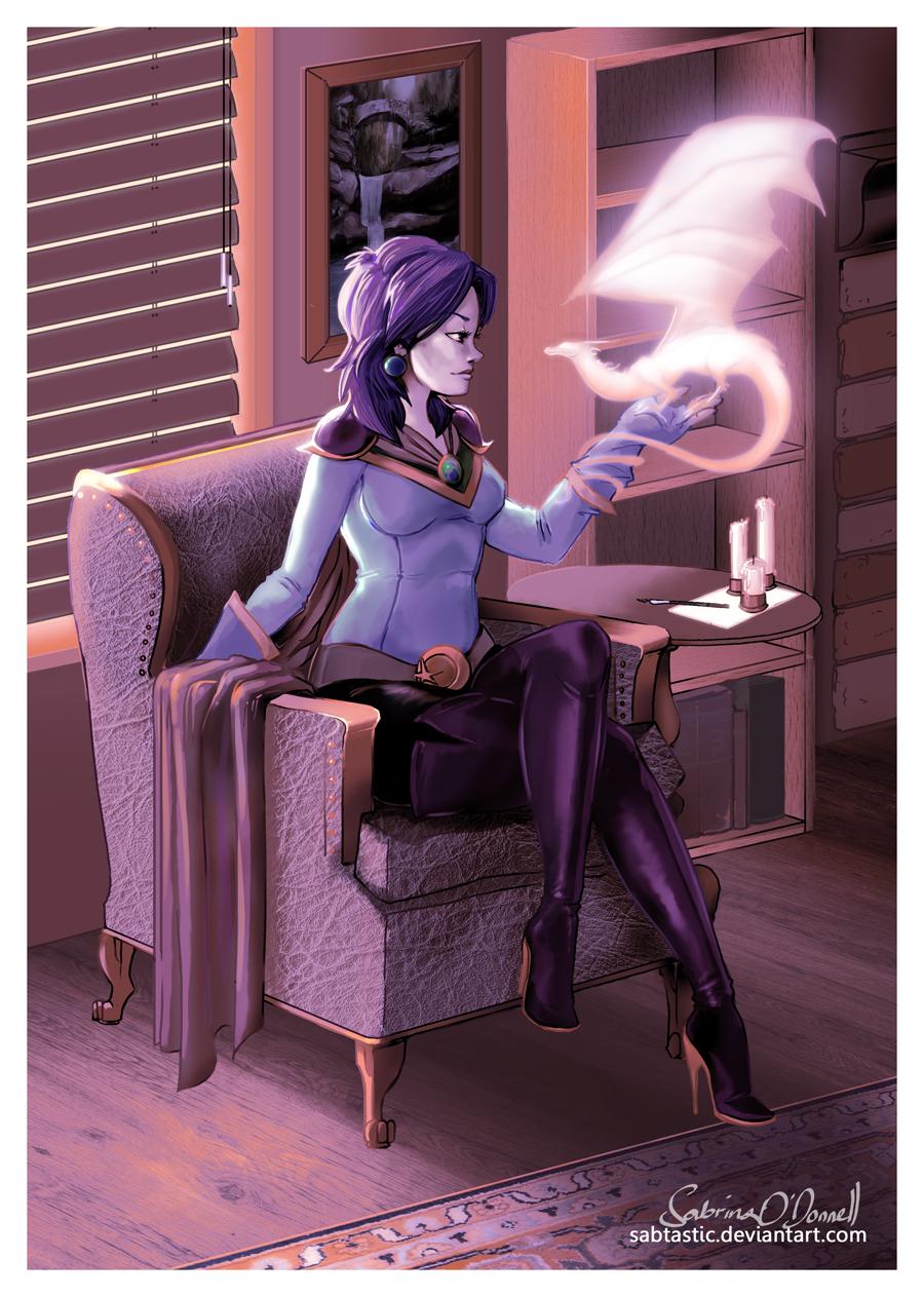 Myra In Her Study