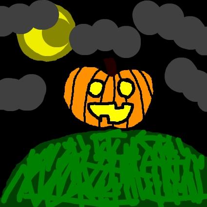 Pumpkin at Night