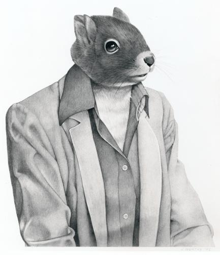 squirrel in a suit