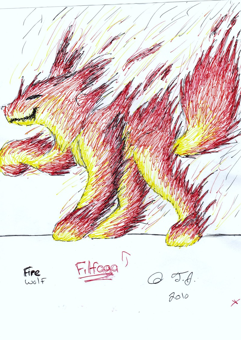 Filfaga the Firey Wolf
