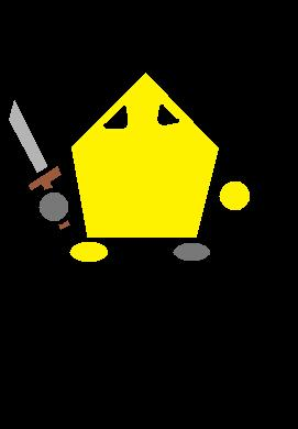 Yellow Knight Pose
