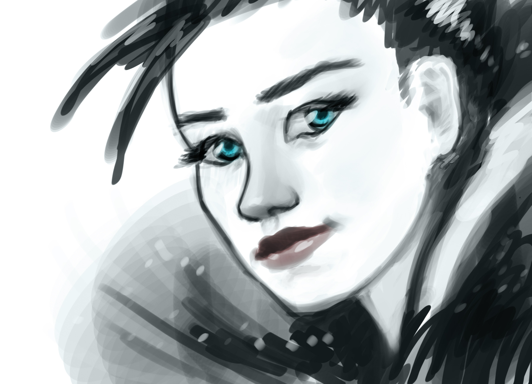 Speed Paint-Chick face.