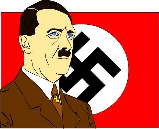 Hitler and Flag