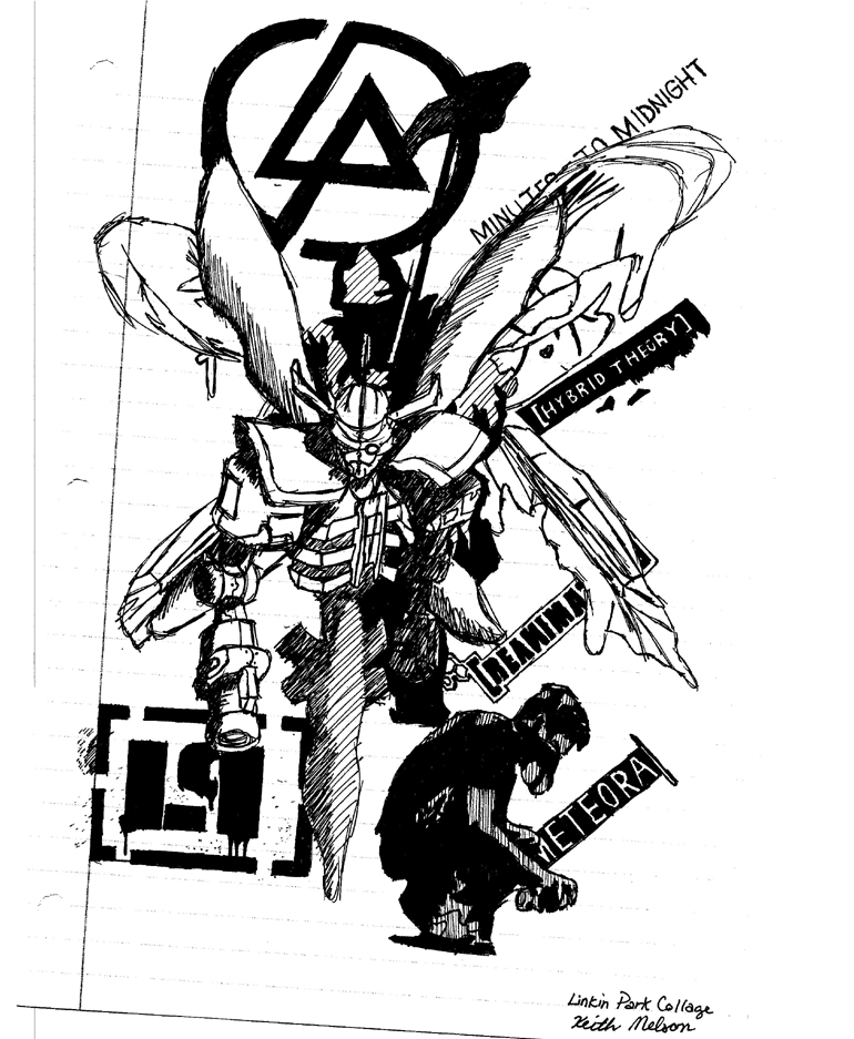 Linkin Park Album Art Collage