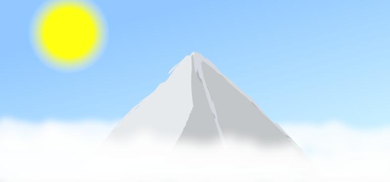 Cloudy mountain :3