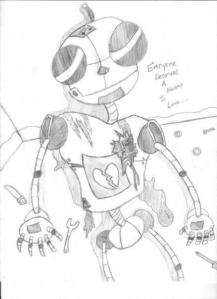 Heartless robot.