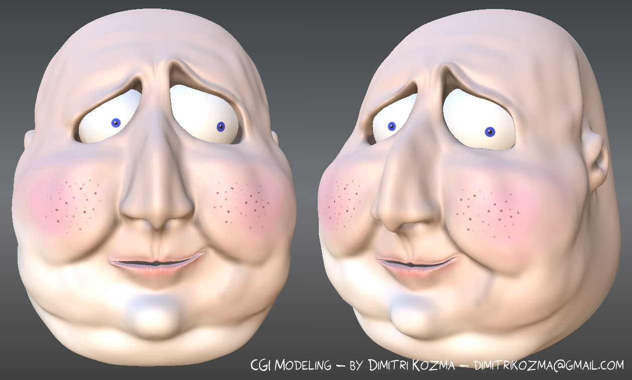Fat Cartoon Guy - CGI Modeling