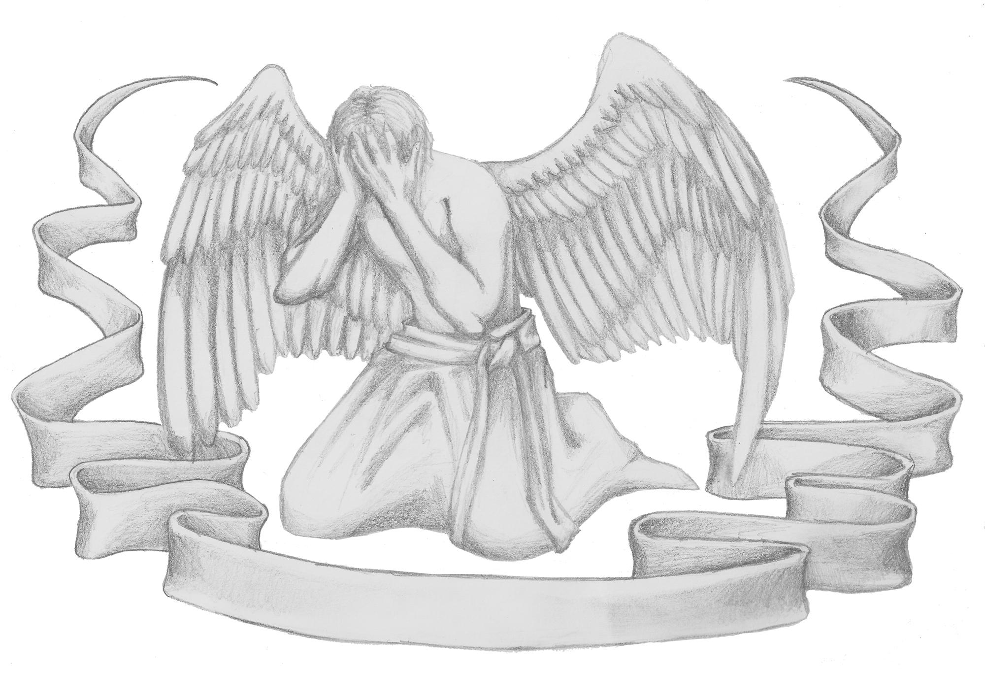 Tattooartwork - Sad Angel