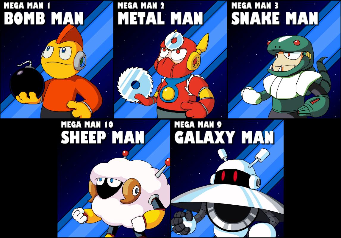 5 Robot Masters