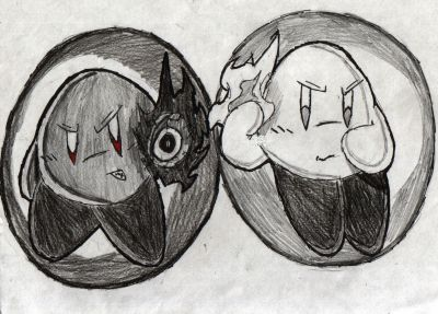 Shadow Kirby and Light Kirby