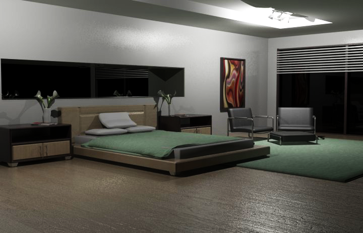 Modern Bedroom Render
