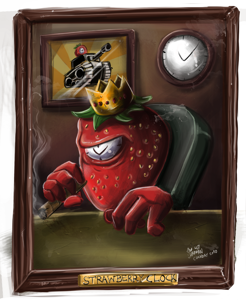 Strawberry Clock