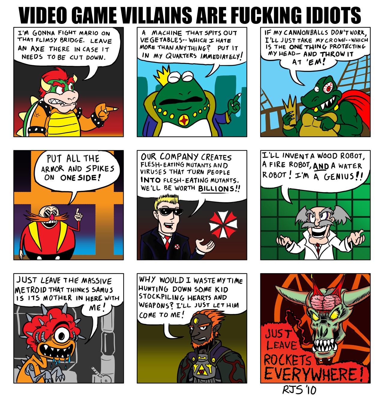 VG Villains Are Fucking Idiots