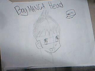 Boy Manga Head