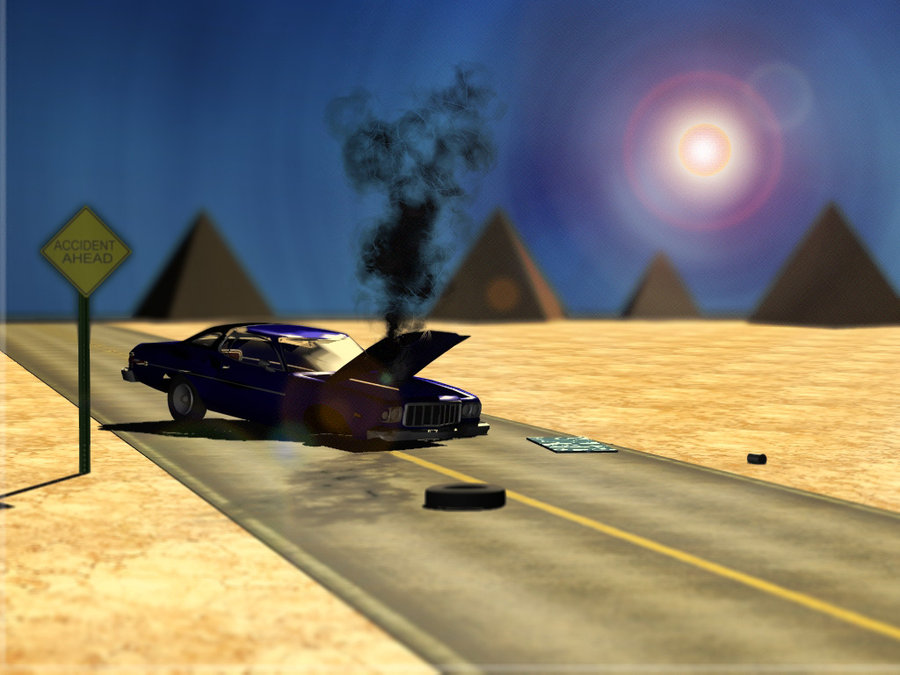 3D Desert Car