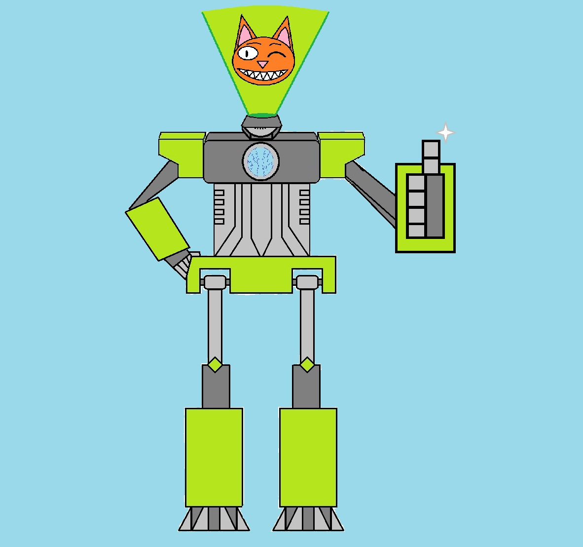 Giant Robo-Cat By Holo-Cat