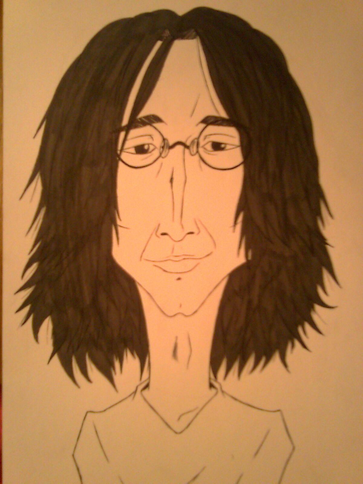 John Lennon Caricature