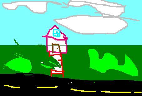 Cloudy sky, house