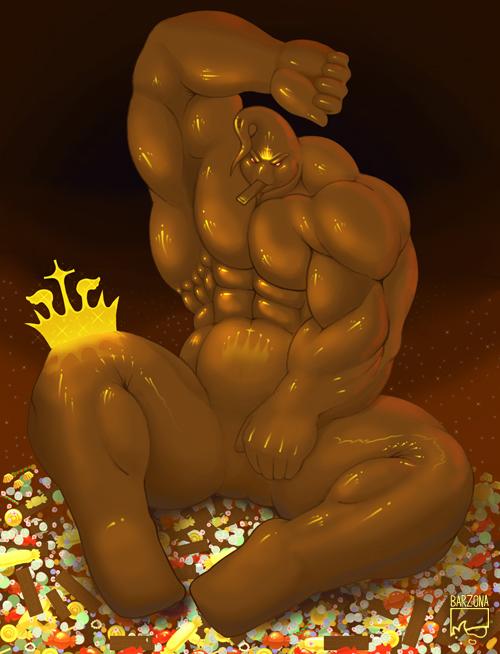 Milk chocolate muscle