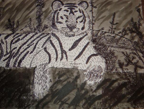 Tiger - India Ink