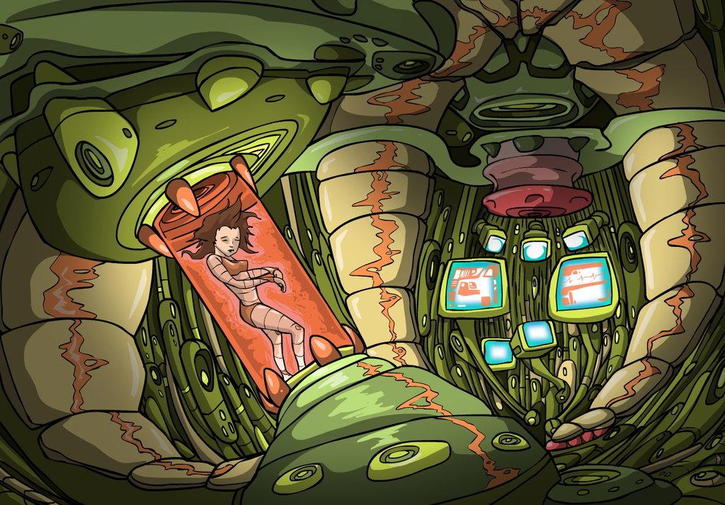 Alex Seryoua Comic Panel.