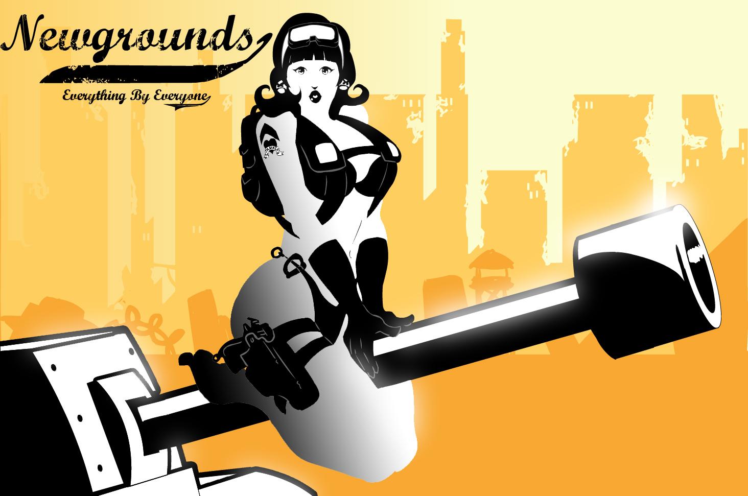 Newgrounds Pin-up
