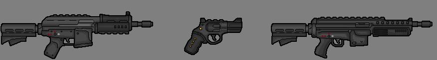 ak revoler and .223 rifle