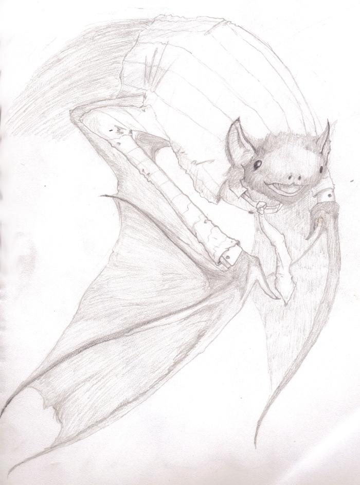 Bat in a suit