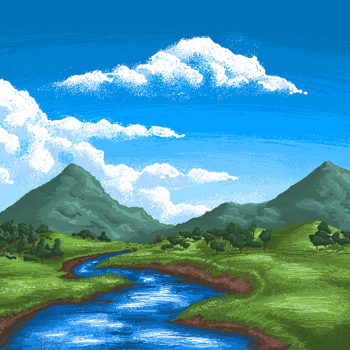 MS Paint Landscape